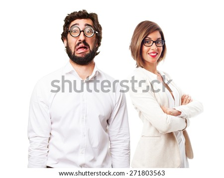 sad fool man - stock photo