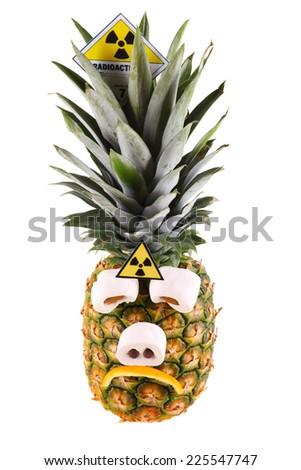 sad pineapple - stock photo