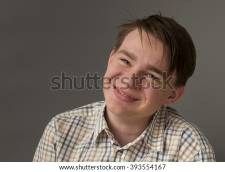 Sad teenager boy - stock photo