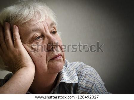 Sad woman - stock photo