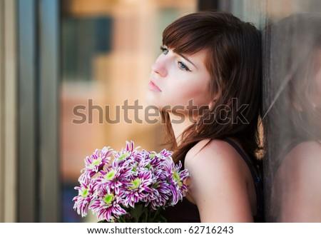Sad young woman. - stock photo