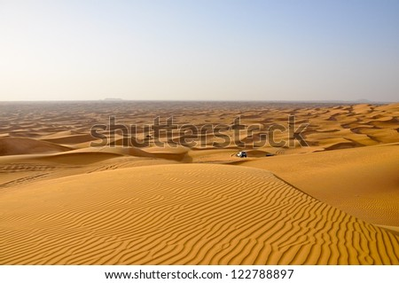 Safari in the desert of the United Arab Emirates, Dubai. - stock photo