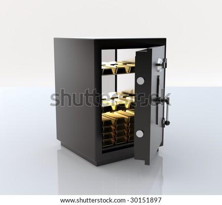 Safe - stock photo