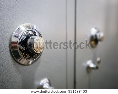 Safe Box Banking Password protected system  - stock photo