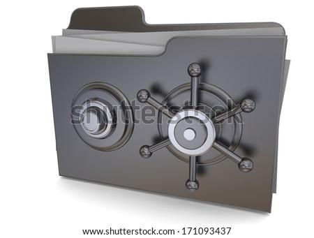Safe Folder - 3D - stock photo