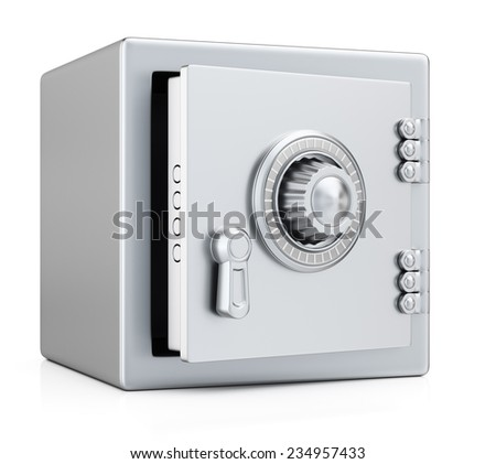 Safe isolated on white background. 3d render - stock photo