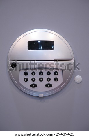 Safe keypad - stock photo