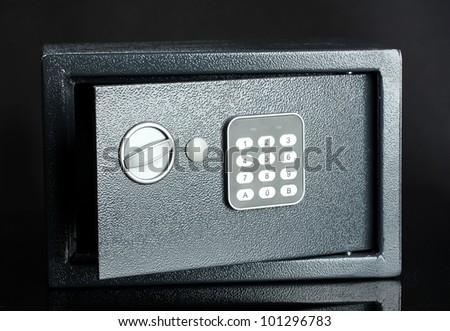 safe on black background - stock photo