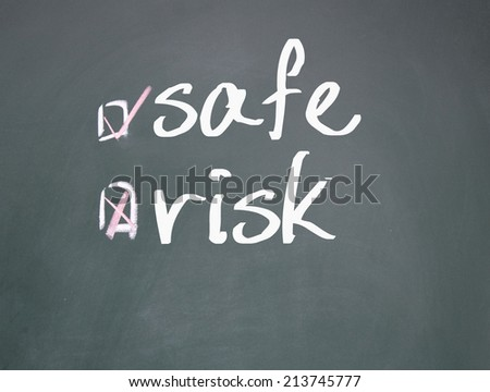 safe or risk choice  - stock photo