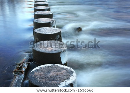 Safe Passage over Mystic Waters - stock photo