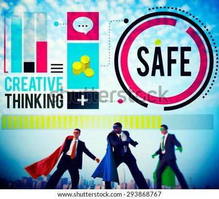 Safe Saving Protection Security Security Lock Concept - stock photo