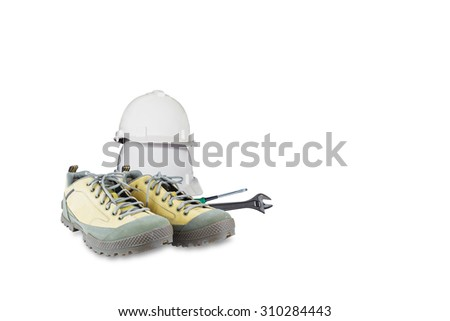 Safety and maintenance tools with clipping path - stock photo