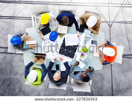 Safety Architects Design Meeting Concept - stock photo