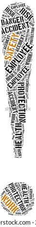 Safety at work concept. Word cloud illustration. - stock photo