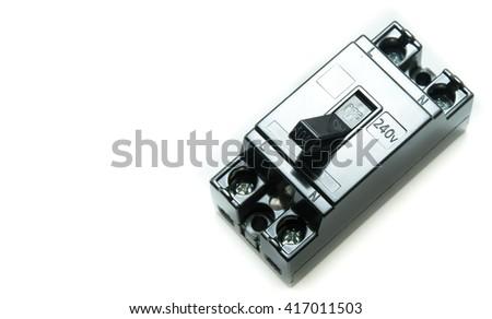 safety breaker on white background - stock photo