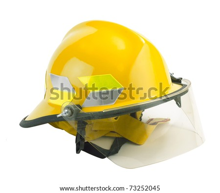Safety helmet for fireman to protection him from danger - stock photo