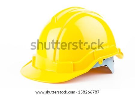 Safety helmet on isolated white background - stock photo
