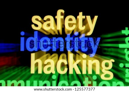 Safety identity hacking - stock photo