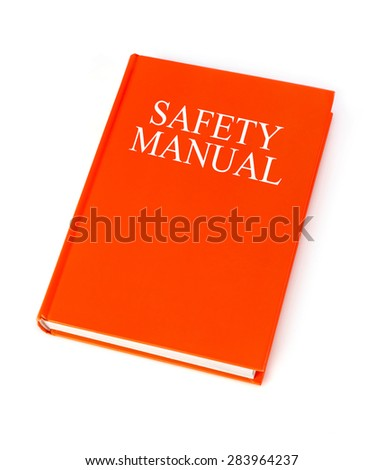 Safety manual - stock photo