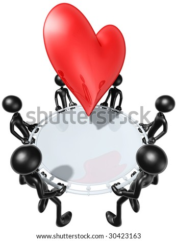 Safety Net Catching A Heart - stock photo