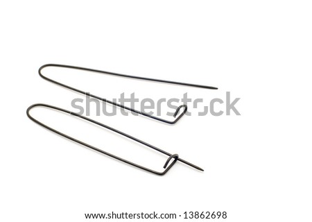 safety pin - stock photo