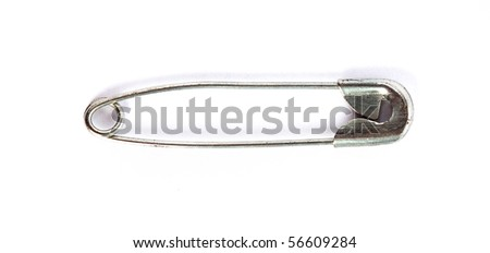safety pin isolated - stock photo