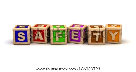 Safety Play Cubes - stock photo
