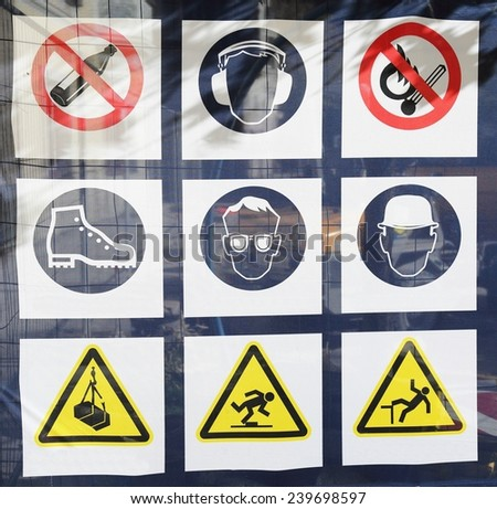 Safety rules - stock photo