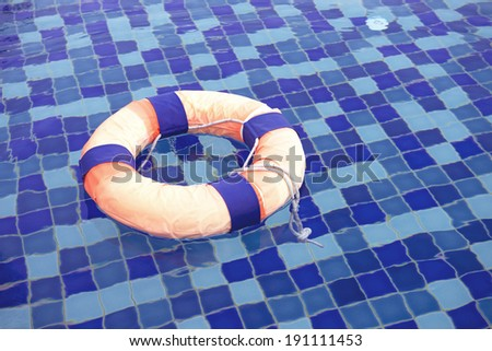 Safety swimming pool - stock photo
