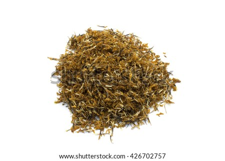 Safflower (Carthamus Tinctorius) - stock photo