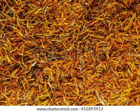 Saffron Threads - stock photo