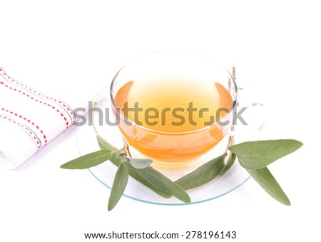 Sage tea - stock photo