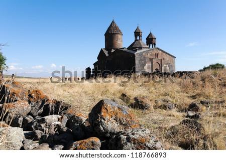 Saghmosavank monastery, Saghmosavan, Armenia - stock photo