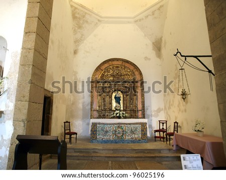 Sagres Point - Retable in the church - stock photo