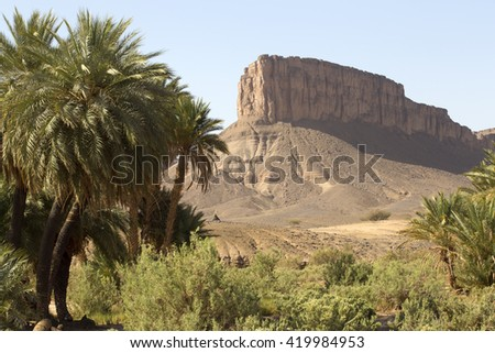 Sahara Desert, Morocco. - stock photo