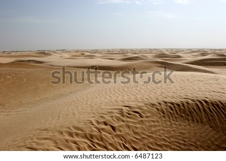 Sahara Desert, popular travel destination. - stock photo