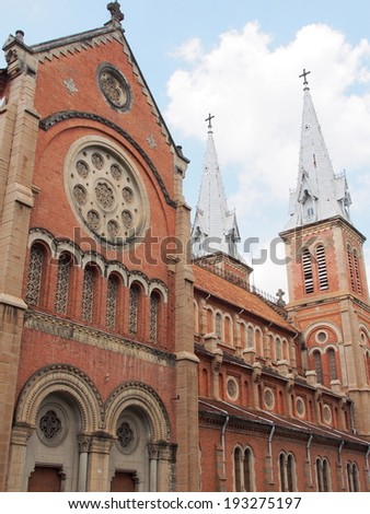 Saigon Cathedral in Ho Chi Minh City, Vietnam - stock photo