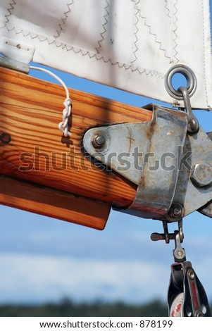 Sail and rigging - stock photo