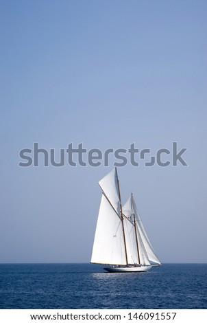 Sailboat on sea - stock photo