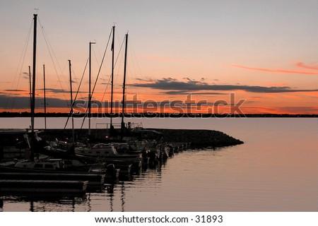 Sailboats at rest - stock photo