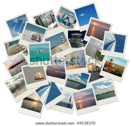 Sailing around the world! - stock photo