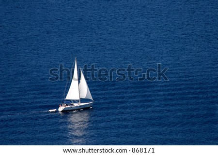 Sailing Boat in the Adriatic - stock photo