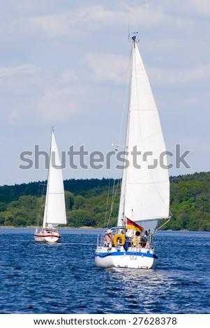 Sailing boats - stock photo
