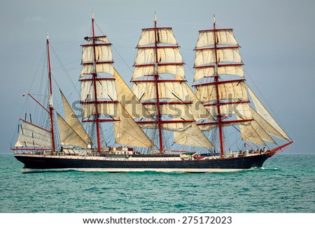 Sailing. Collection yachts and ships - stock photo