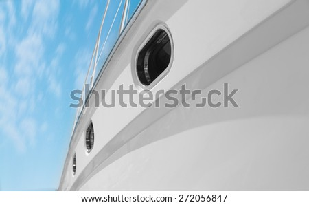 sailing into the sunset - stock photo