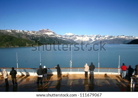 Sailing on Glacier Bay - stock photo