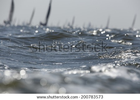 sailing regatta - stock photo