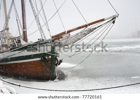 sailing ship in Oslo, Norway - stock photo