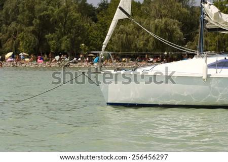 Sailing ship moored - stock photo