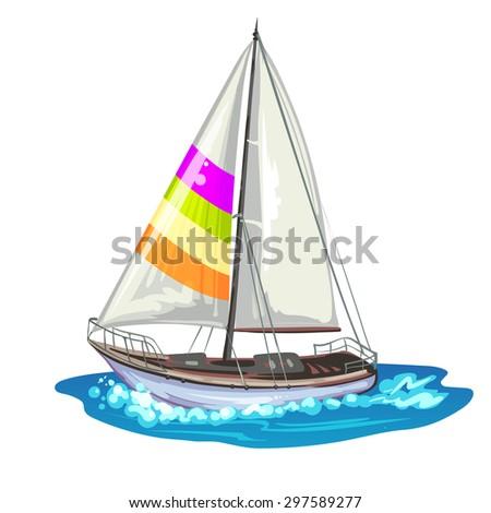 Sailing ship yachts - stock photo